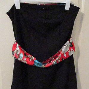 Torrid black strapless dress size 20